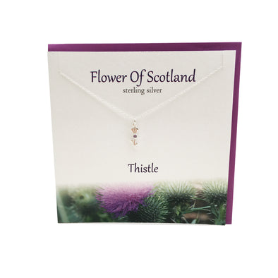 Flower Of Scotland Thistle silver pendant | The Silver Studio Scotland