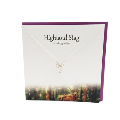 Highland Stag silver pendant | The Silver Studio Scotland