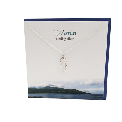 Isle Of Arran Scotland silver necklace | The Silver Studio Scotland