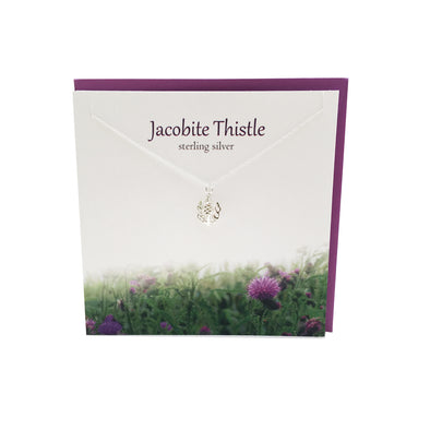 Jacobite Thistle silver pendant | The Silver Studio Scotland
