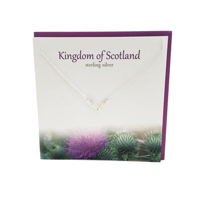 Kingdom of Scotland silver thistle necklace | The Silver Studio Scotland