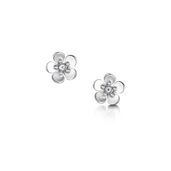 Forget Me Not silver stud earrings| Glenna Jewellery Scotland