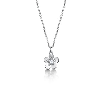 Forget Me Not silver pendant small| Glenna Jewellery Scotland