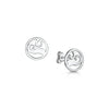 Scottish Coast Small Wave Silver Stud Earrings