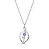 Scottish Thistle Amethyst Crystal silver pendant | Glenna Jewellery