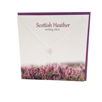 Scottish Lucky Heather silver pendant | The Silver Studio Scotland