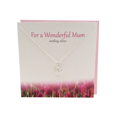 For a Wonderful Mum silver necklace | The Silver Studio Scotland