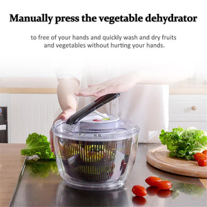 2-in-1 Washing Dehydrating Press Salad Bowl