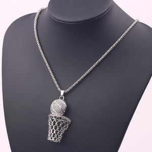 Iced Basketball Necklace