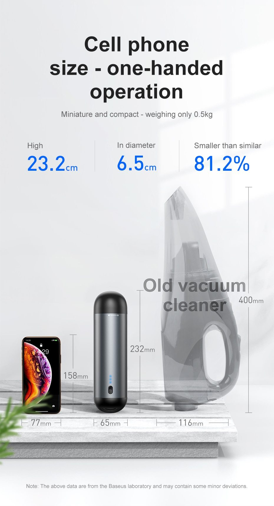 Handheld Auto Vacuum Cleaner 4000Pa Suction - DealzBEGIN
