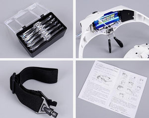 Adjustable LED Magnifier Glass Headband