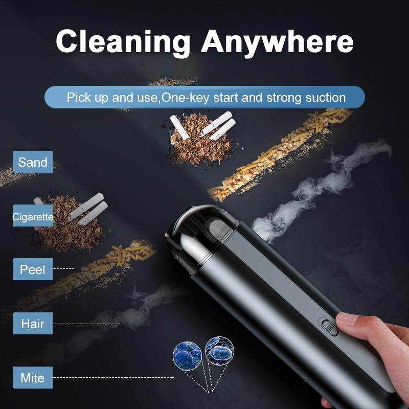 Handheld Auto Vacuum Cleaner 5000Pa Suction