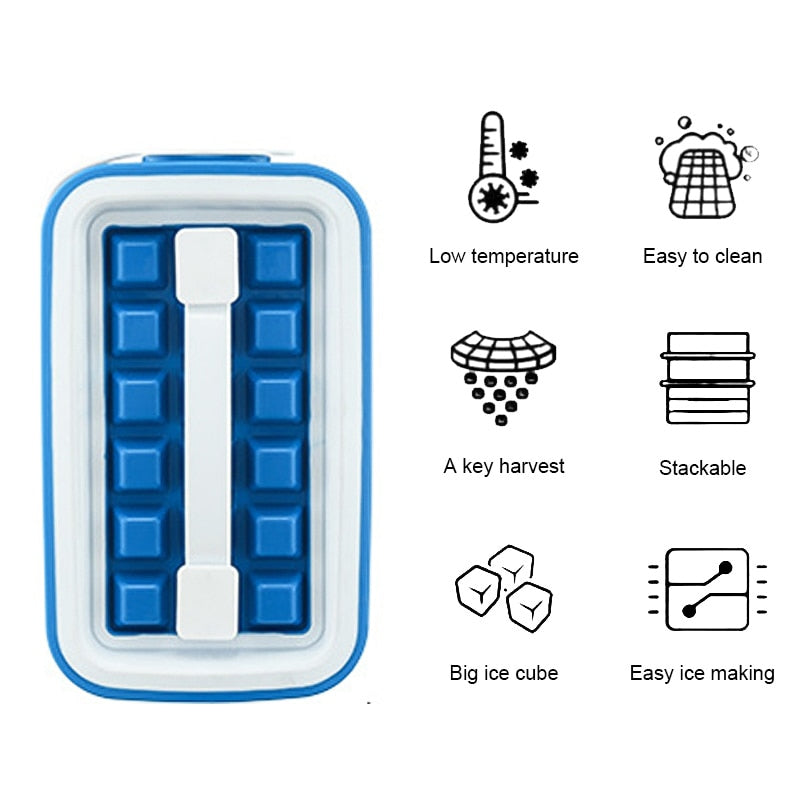 32 Grids Silicone Ice Cube Tray