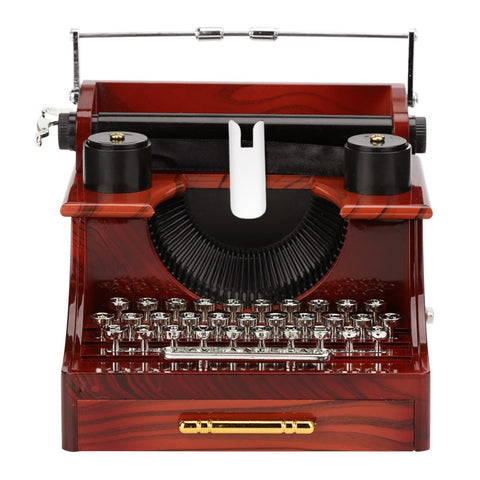 Classic Wood Antique Typewriter