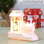 Holiday Christmas Snowman Elk LED Lights Train Santa Claus