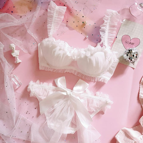 Japanese Lolita Flower Bras Sets