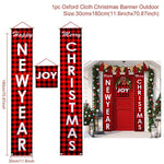 Holiday Christmas Door Banner 2020 Merry Christmas Decor