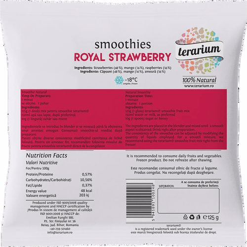 terarium.ro TERARIUM SMOOTHIES ROYAL STRAWBERRY 125GR