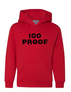 100 Proof Men Red Hoodie