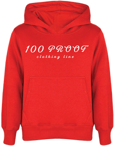 100 Proof Ladies Red Hoodie