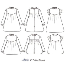 Load image into Gallery viewer, Advanced Beginner - LOUISE Blouse & Dress Kit - Children's