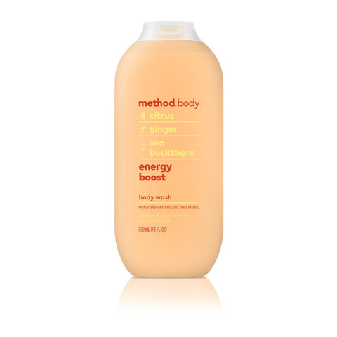Naturally Derived Body Wash 532ml - Energy Boost