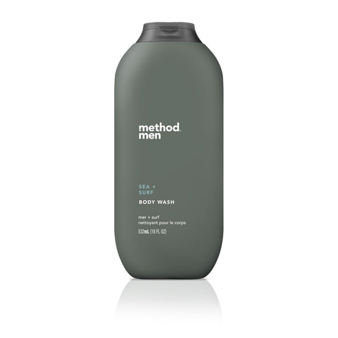 Naturally Derived Men Body Wash 532ml - Sea + Surf