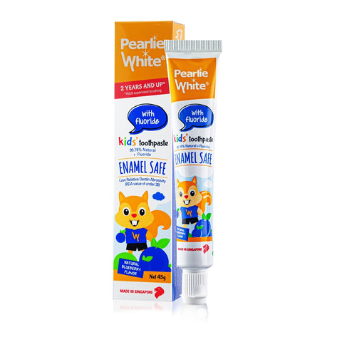 Enamel Safe Kids Fluoride Toothpaste 45gm - Blueberry