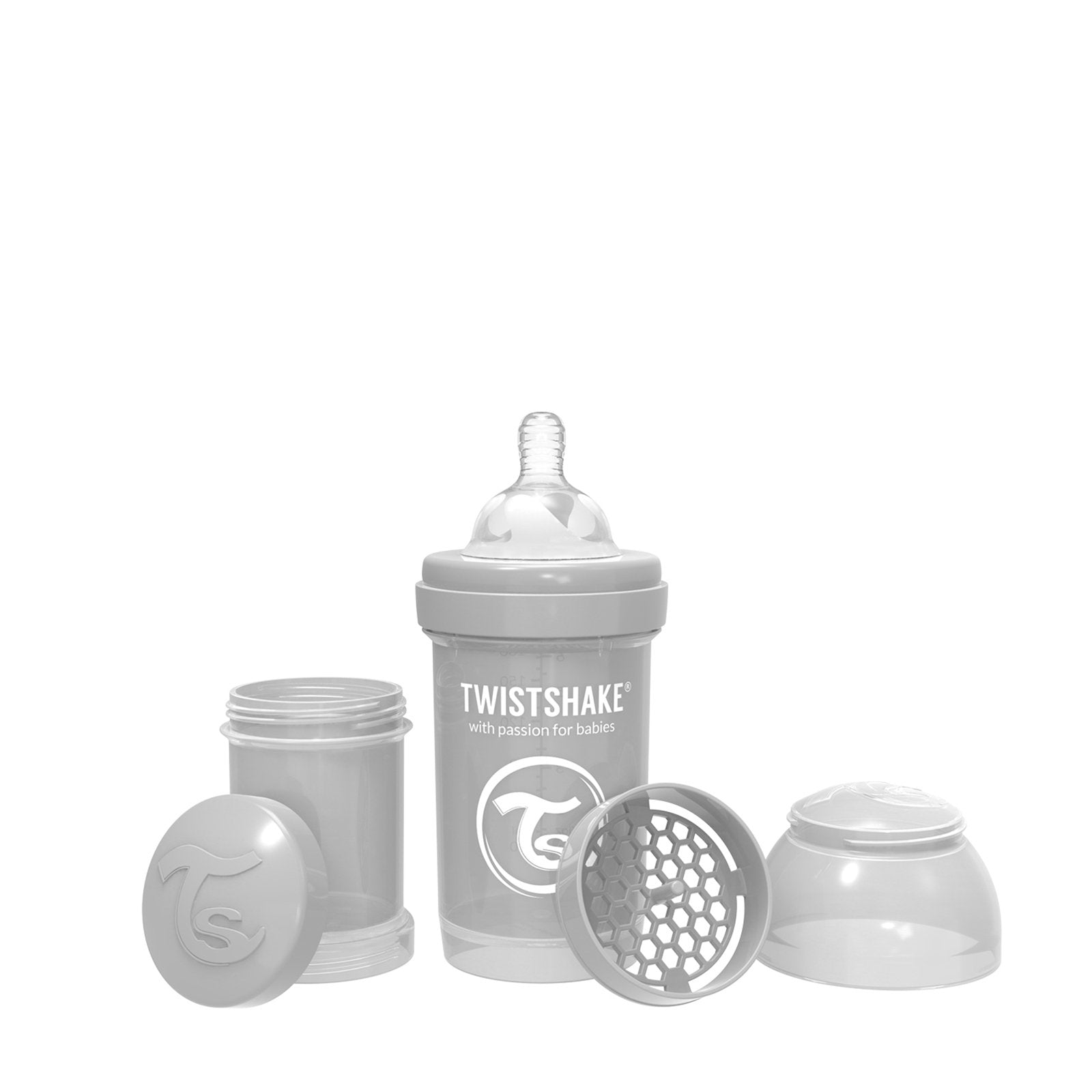Anti-Colic Premium PP Baby Bottle 180ml Pastel Grey