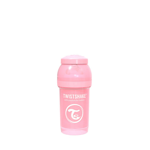 Anti-Colic Premium PP Baby Bottle 180ml Pastel Pink
