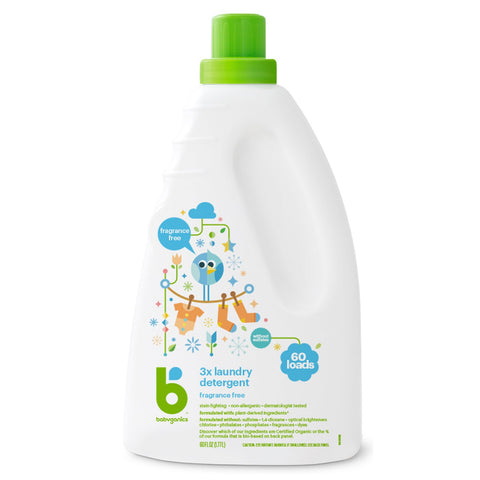 3x Laundry Detergent, 1.77L, Fragrance Free