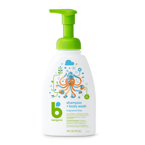 Shampoo + Body Wash, 473ml, Fragrance Free