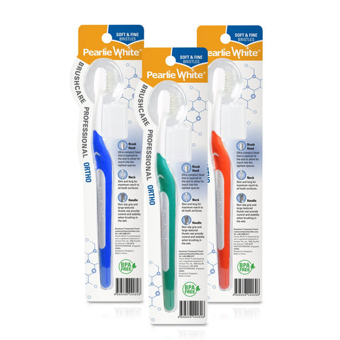 BrushCare Professional Ortho Soft Toothbrush Triple Pack