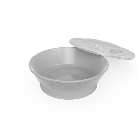 Smart Anti-Slip Baby Bowl Pastel Grey 6m+