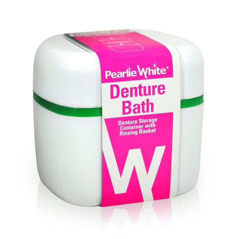 Denture Bath Denture Container With Rinsing Basket