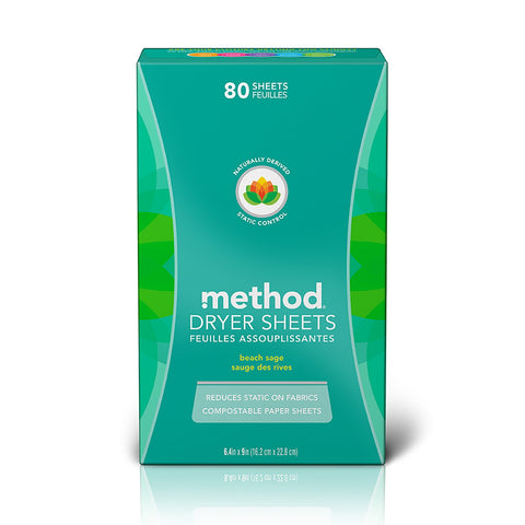 100% Compostable Dryer Sheets 80s - Beach Sage