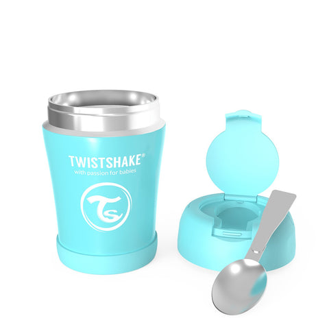 Insulated Food Container 350ml Pastel Blue
