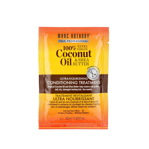 100% Extra Virgin Coconut Oil & Shea Butter Deep Nourishing Conditioning Treatment 50ml