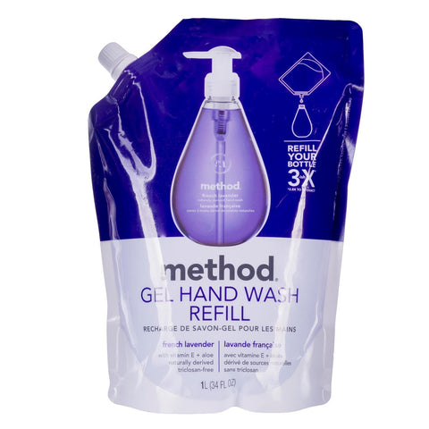 Naturally Derived Gel Hand Wash Refill 1L - French Lavender