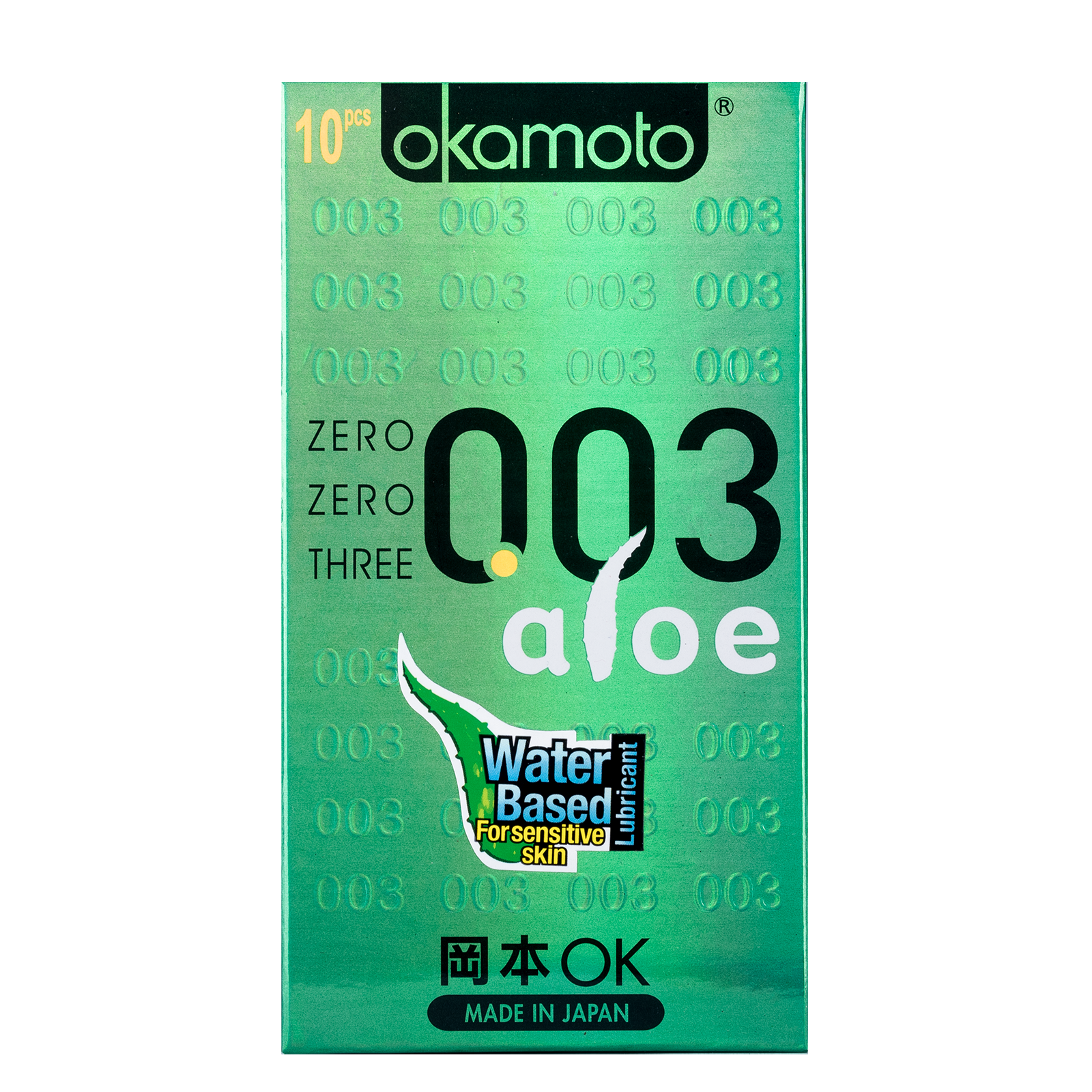 OK 003 Zero Zero Three Aloe Condoms 10s