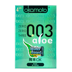 003 Zero Zero Three Aloe Condoms 4s