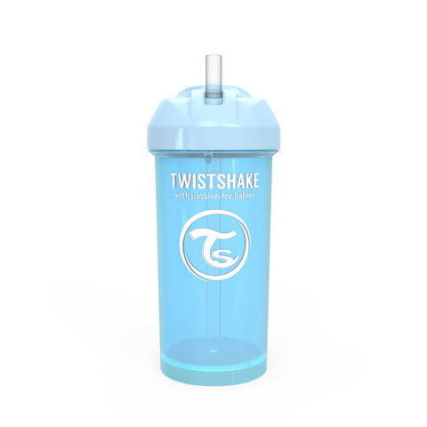 Spill-Free Straw Cup 360ml Pastel Blue 12m+