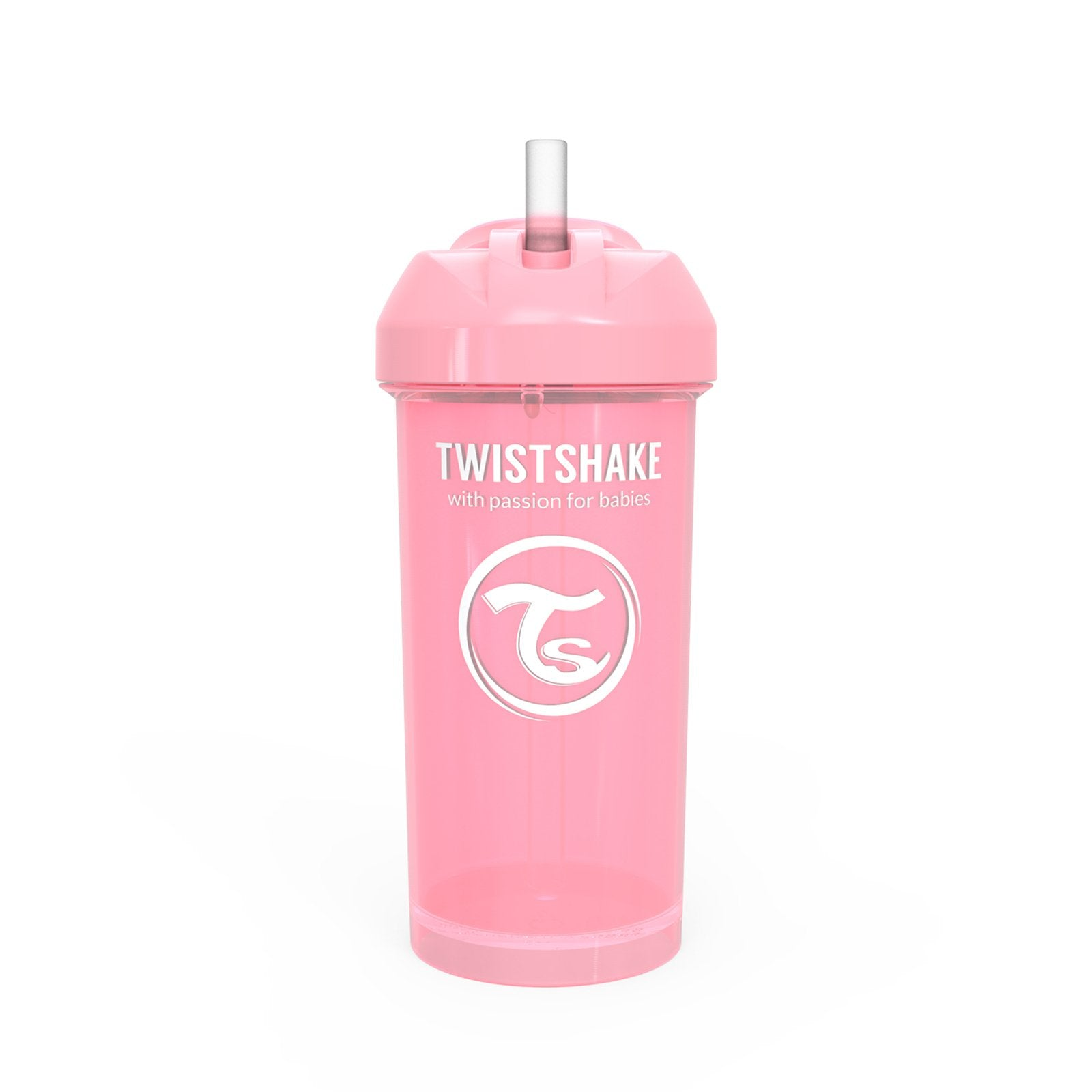 Spill-Free Straw Cup 360ml Pastel Pink 12m+
