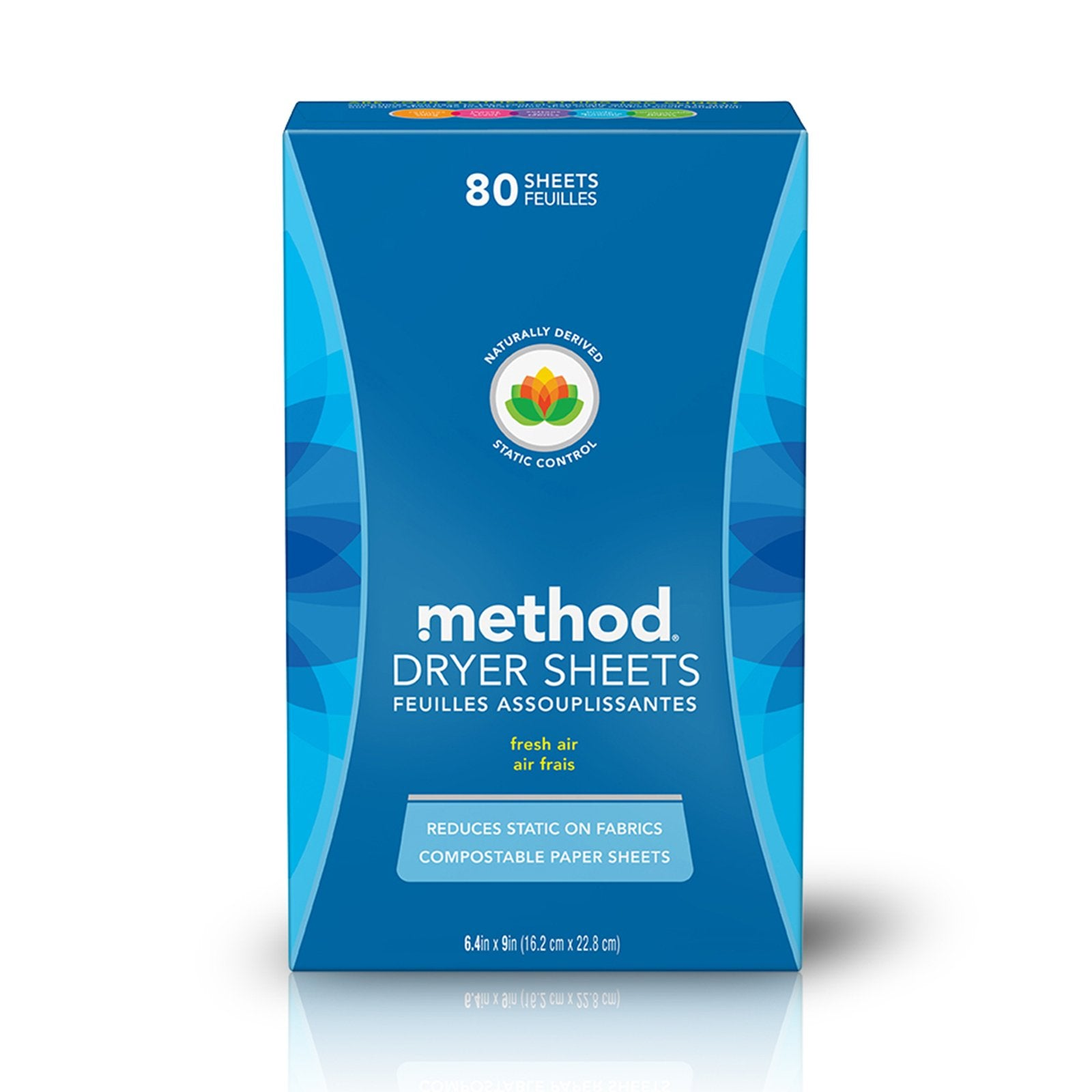 100% Compostable Dryer Sheets 80s - Fresh Air
