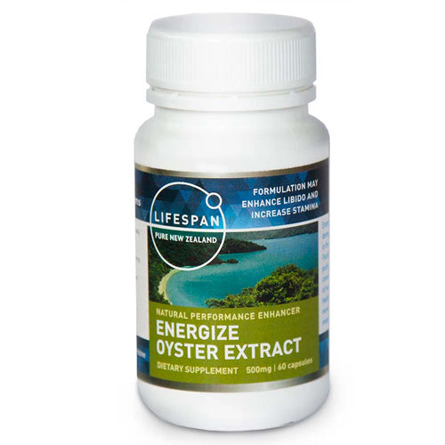 Energise Oyster Extract 60 Capsules