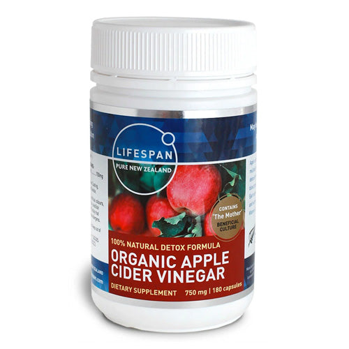 Organic Apple Cider Vinegar 750mg 180 Capsules