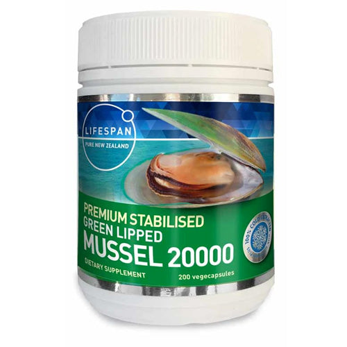 Premium Stabilised Green Lipped Mussel Oil 20000 200 Capsules