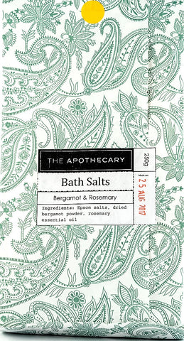 Bath Salts, Rosemary & Bergamot