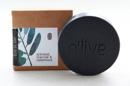 Activated Charcoal & Cedarwood Soap, 110g
