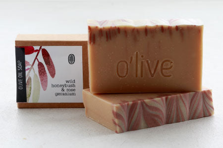 Wild Honeybush & Rose Geranium Soap, 110g